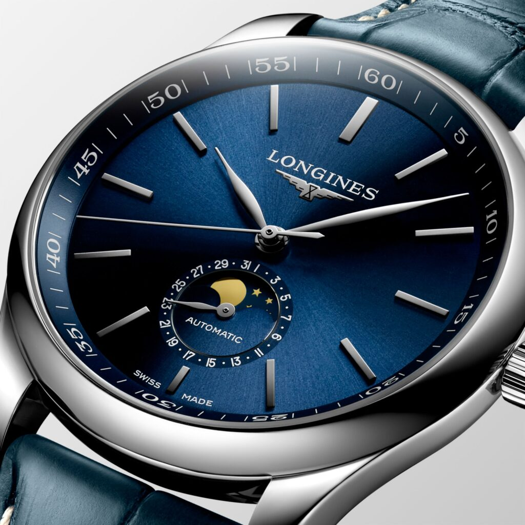 Longines Master Collection Moonphase 42mm Blue Dial
